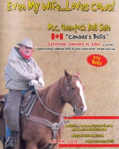 2015 MC Quantock Canadas Bulls Bull Sale Mac Creech Catalogue Cover Lloydminster Alberta Saskatchewan